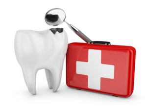 tooth with emergency kit